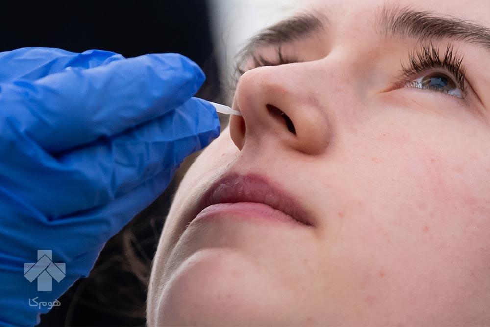 تست کرونا از طریق بینی